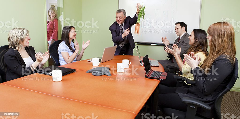 The great motivator dangling carrots stock photo