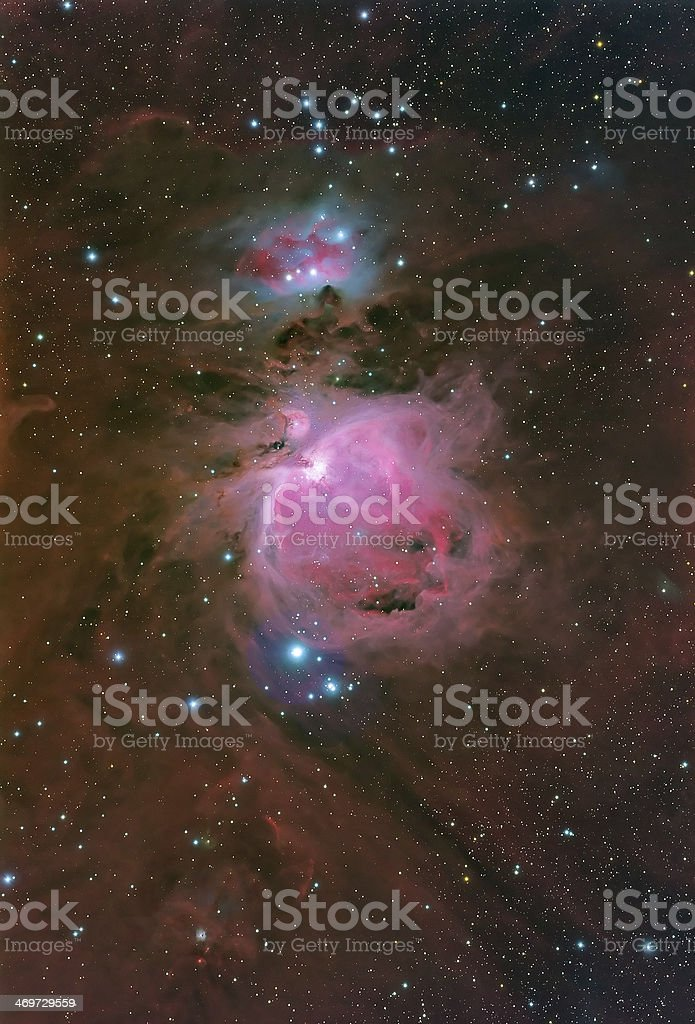 The Great Nebula in Orion stock photo