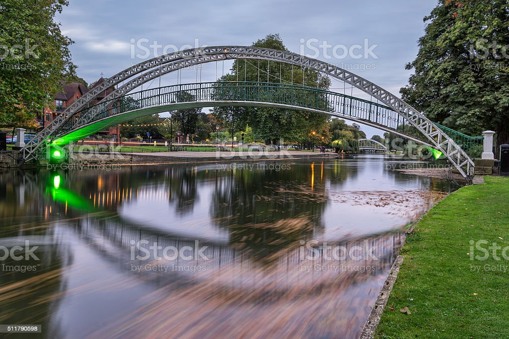 The Great Ouse in Bedford stock photo