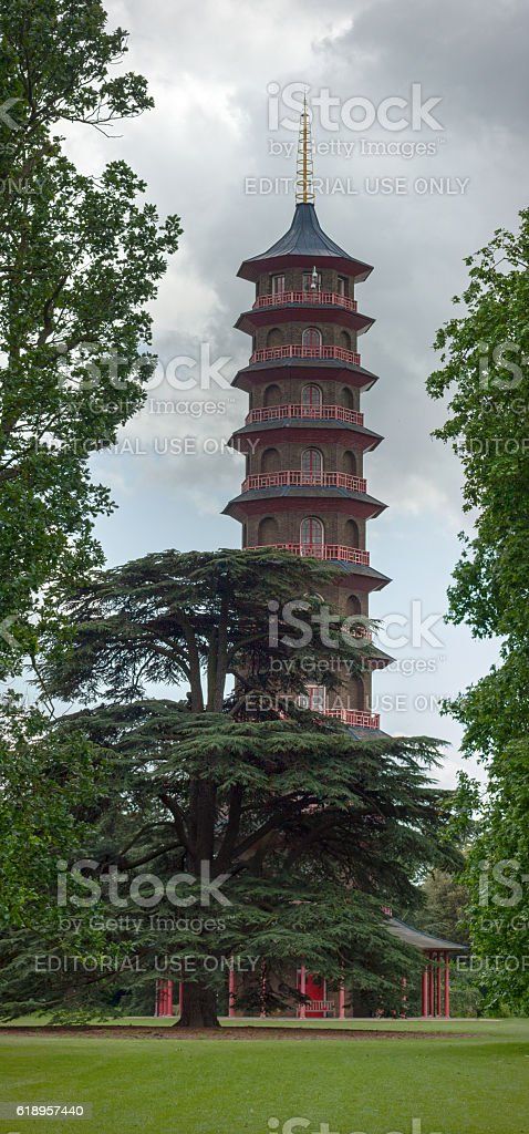 The Great Pagoda of Kew Gardens stock photo