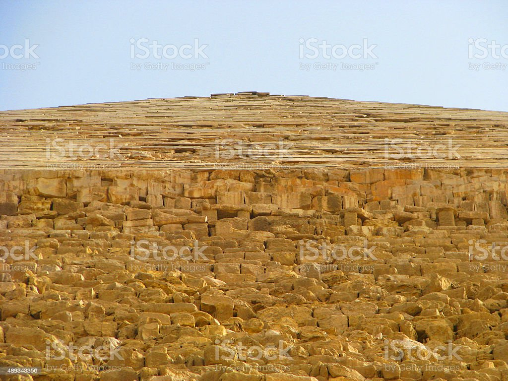 The Great Piramid: a different view stock photo