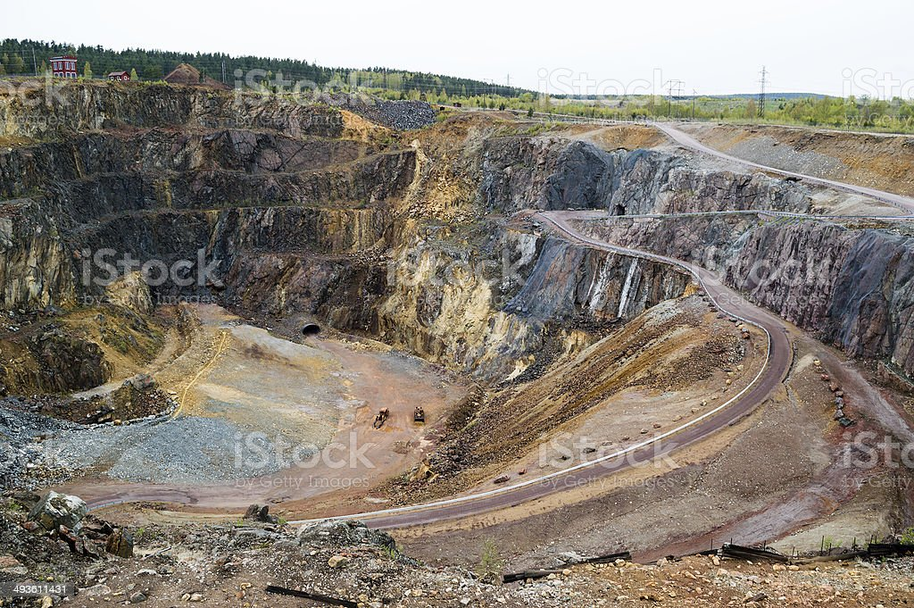The great pit stock photo