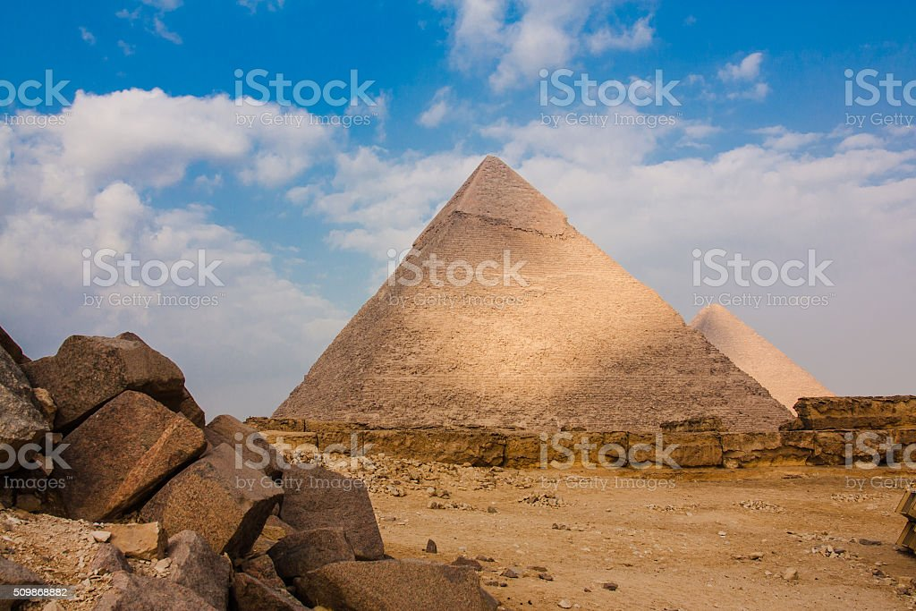 the Great Pyramid at Giza Plateau stock photo