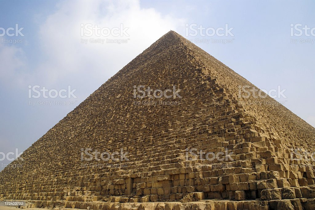 The Great Pyramid Giza Egypt royalty-free stock photo