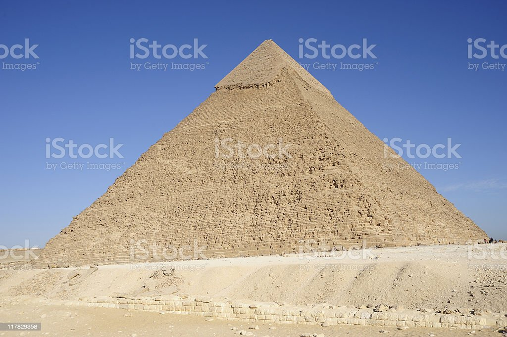 The Great Pyramid of chephren at Giza stock photo