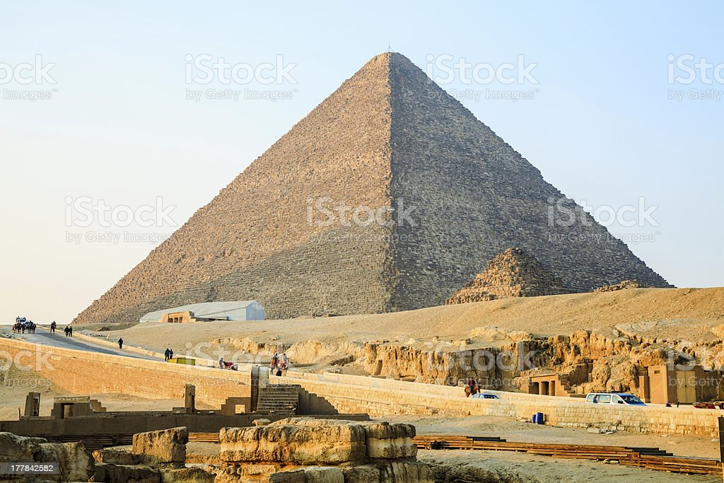 The great pyramid of giza royalty-free stock photo