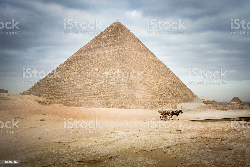 The Great Pyramid of Khufu at Giza stock photo