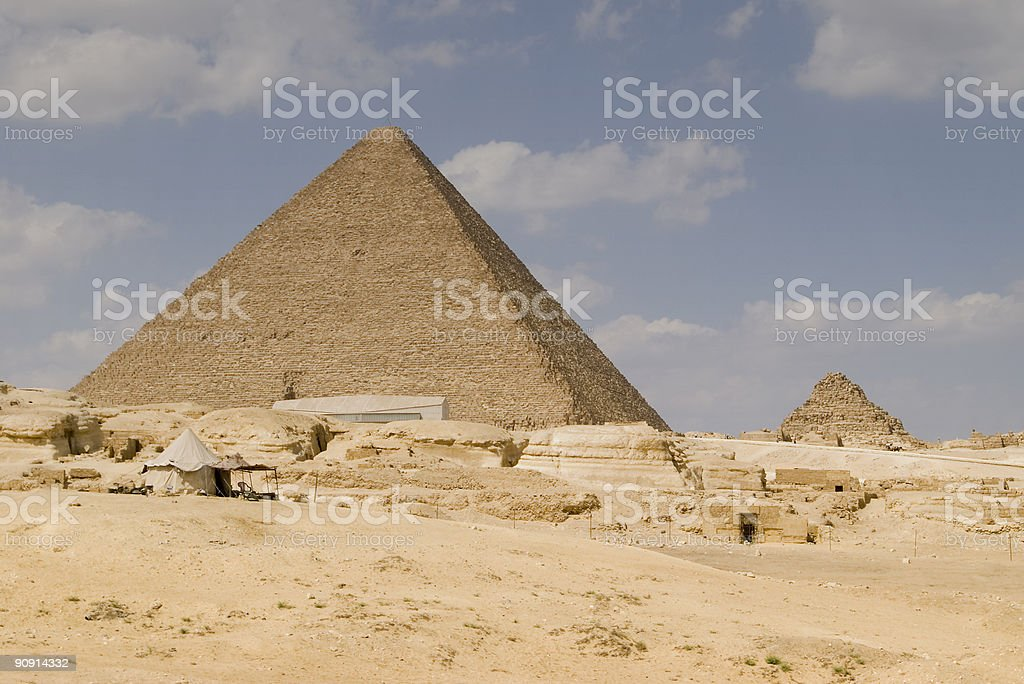 The Great Pyramid royalty-free stock photo