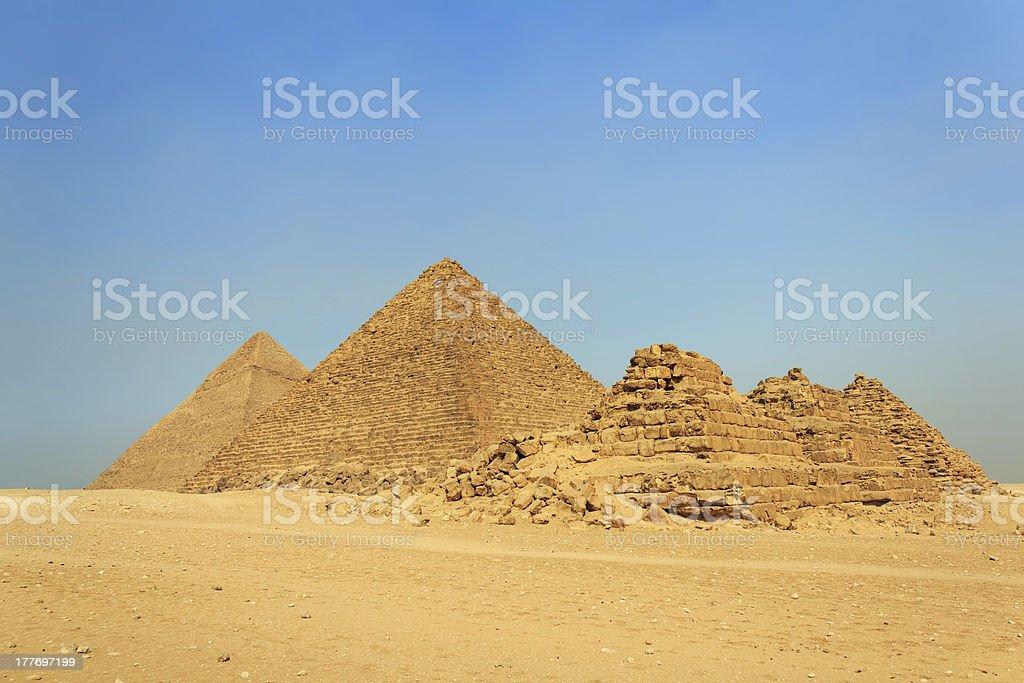 The Great Pyramids, Giza, Egypt royalty-free stock photo