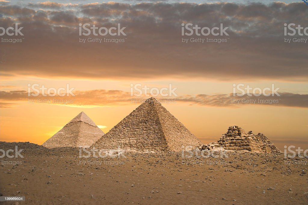 The Great Pyramids stock photo
