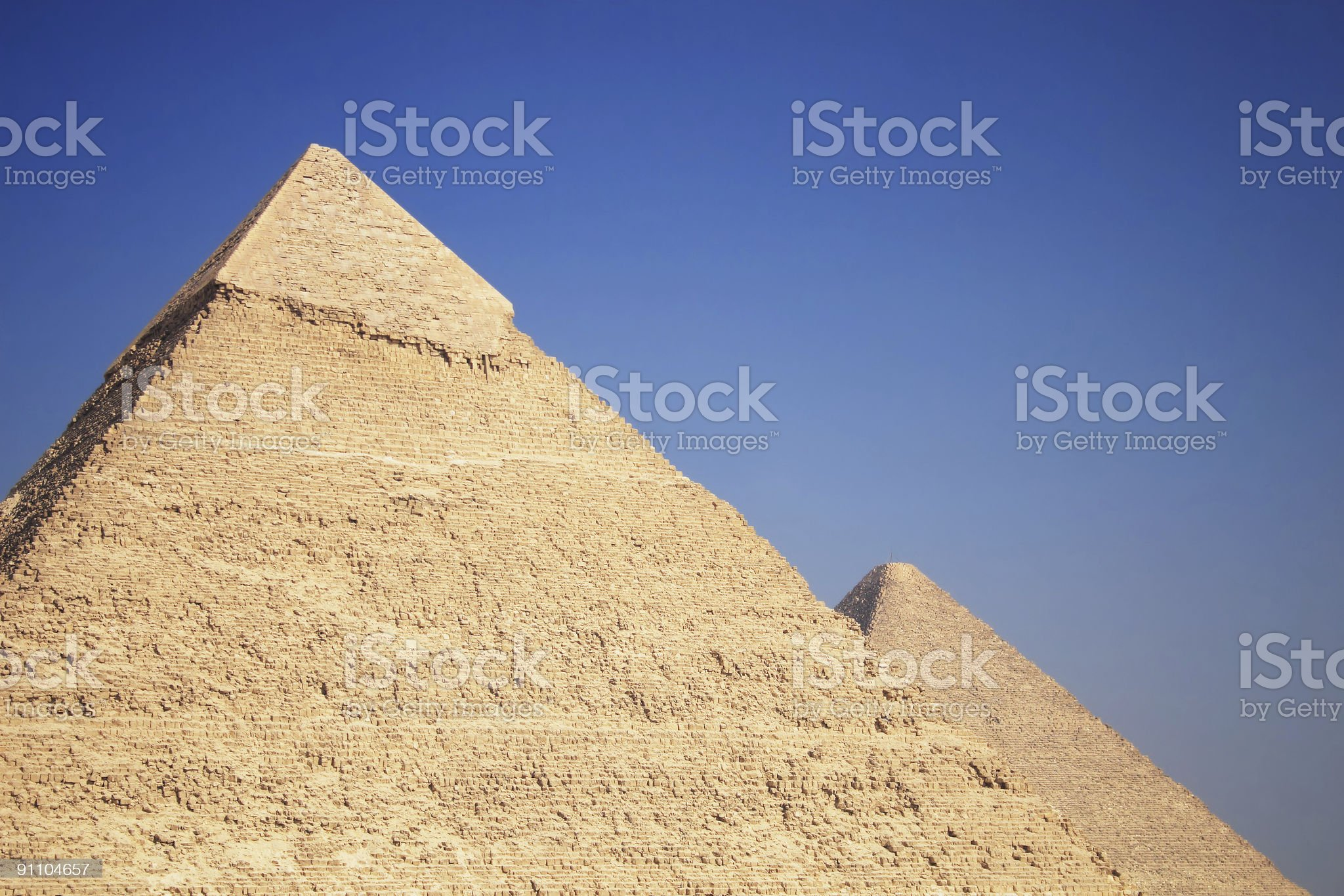The Great Pyramids royalty-free stock photo