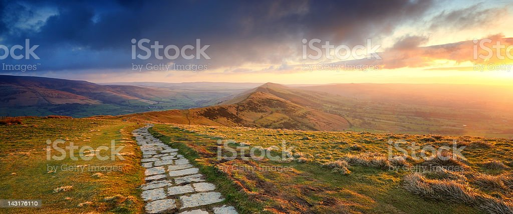 The Great Ridge, Peak District National Park stock photo