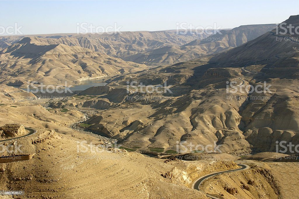 The Great Rift of Jordan stock photo