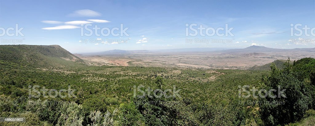 The great rift valley,  Mt Longonot & Mt Suswa, kenya stock photo