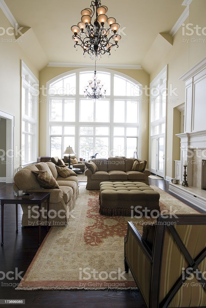The Great Room royalty-free stock photo