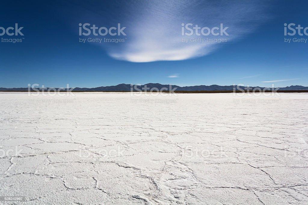 The Great Salar (Desert of Salt) stock photo