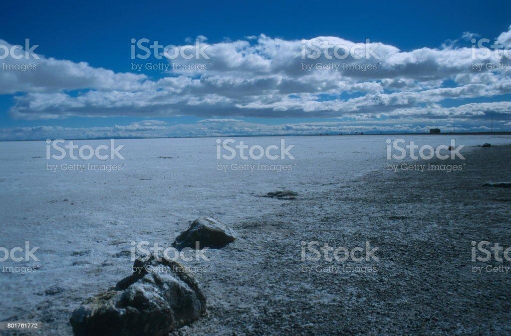 The Great Salt Flats stock photo