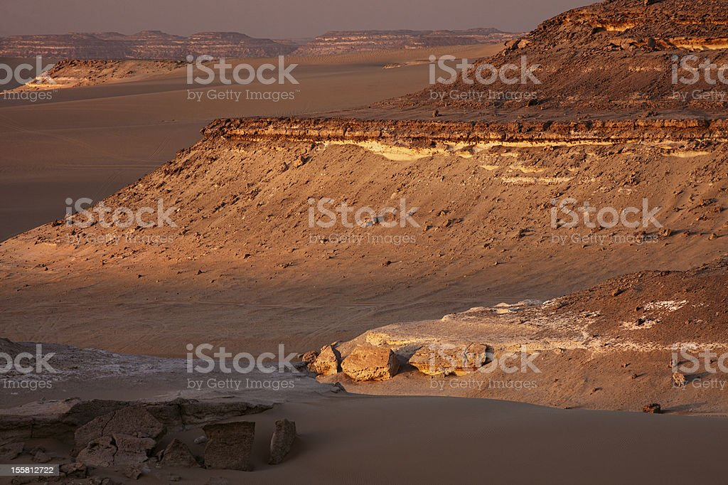 the Great sand sea in Sahara desert near Siwa stock photo