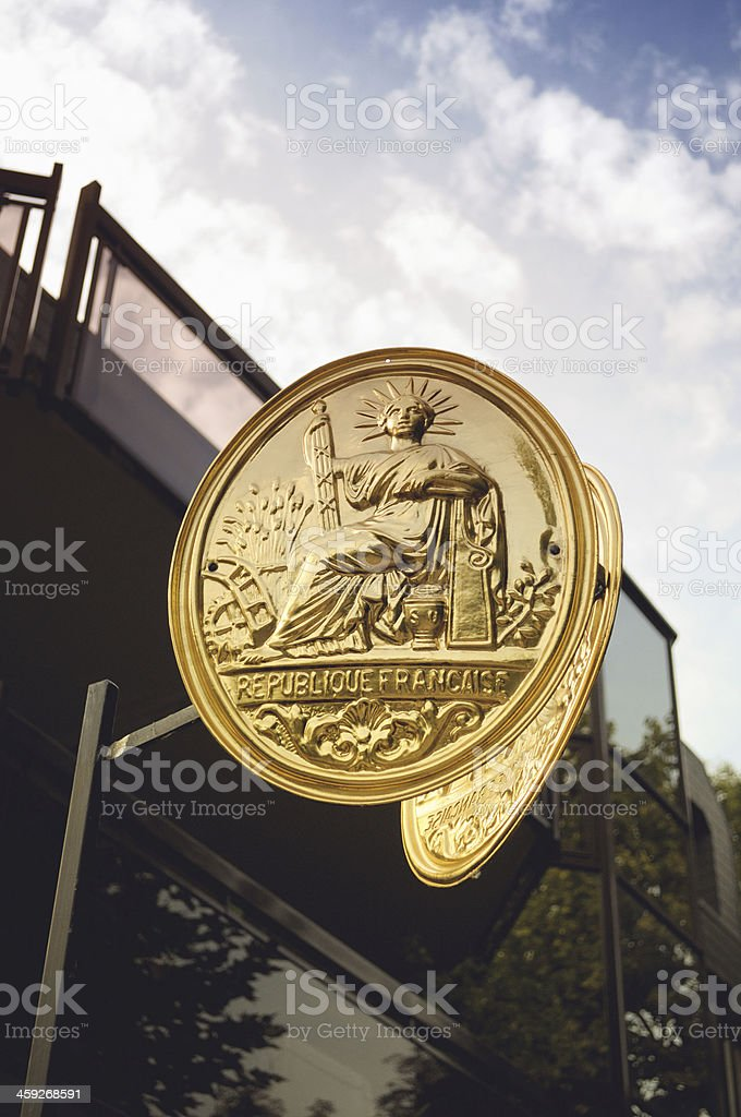 The Great Seal of France stock photo