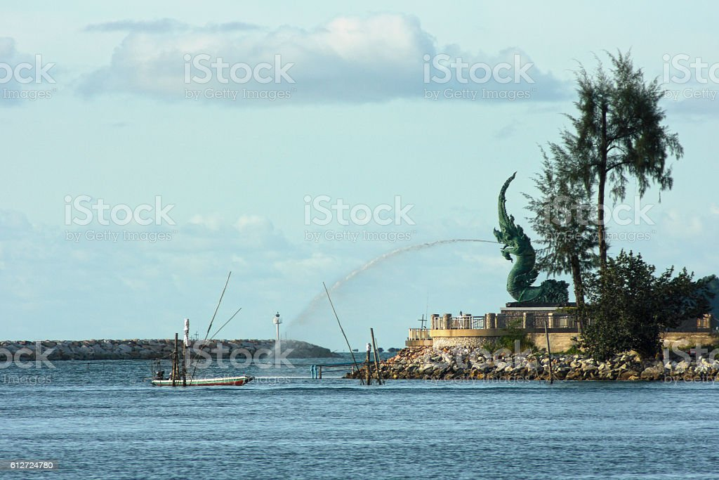 The Great Serpent Nag in Songkhla stock photo