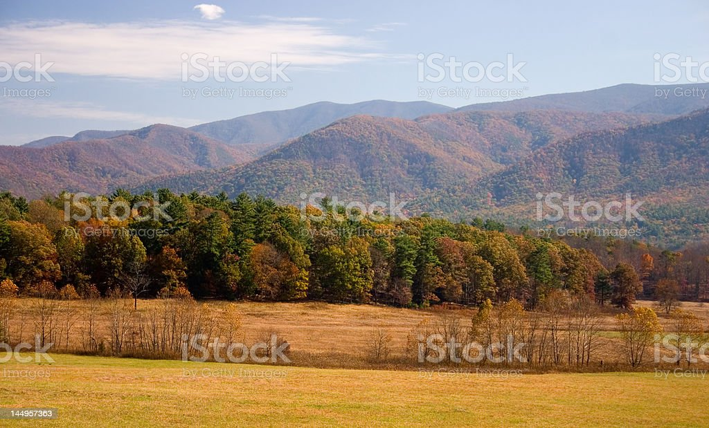 The Great Smoky Mountains in Autumn royalty-free stock photo