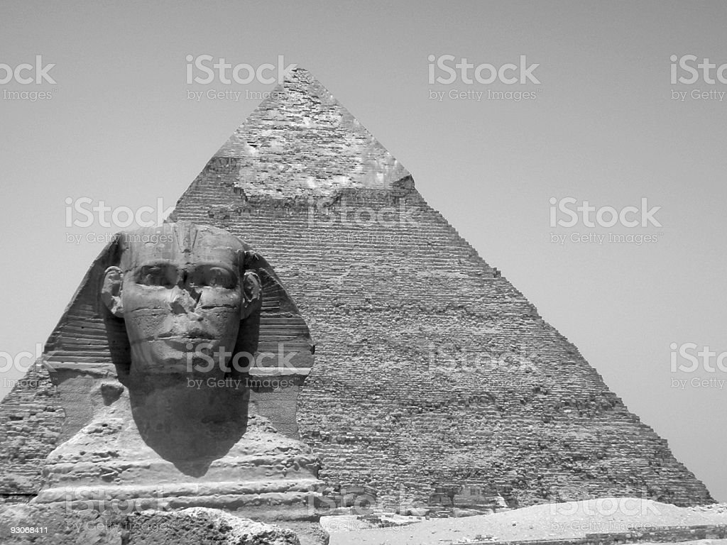 The great sphinx at Giza royalty-free stock photo