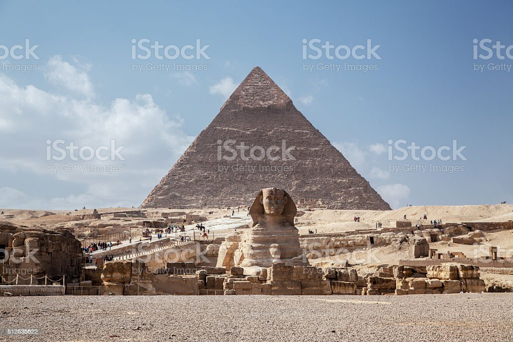 The Great Sphinx Giza Pyramid stock photo