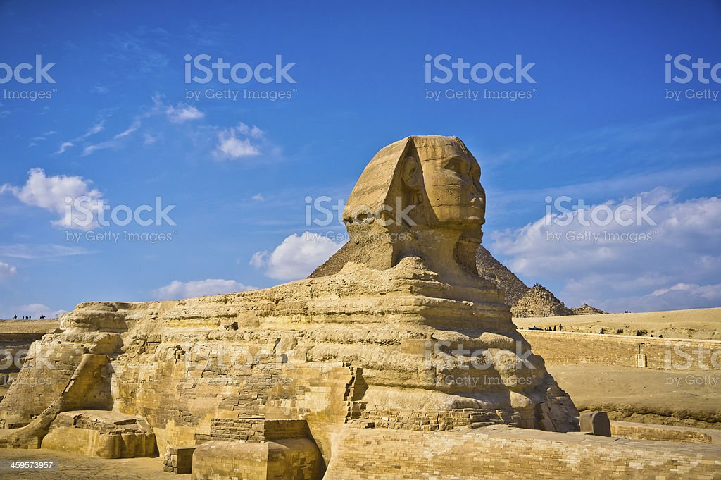 The Great Sphinx in Giza, Egypt royalty-free stock photo