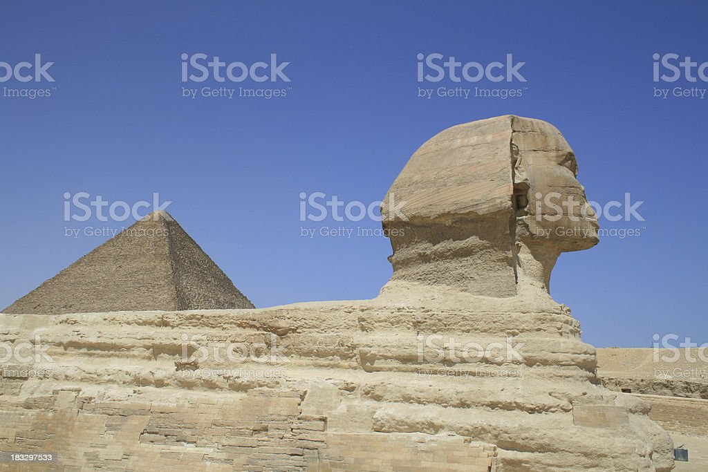 The Great Sphinx og Giza, Egypt royalty-free stock photo