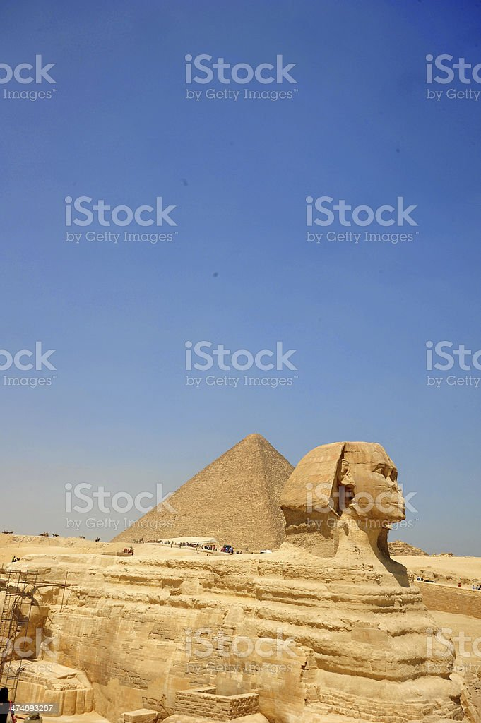 The Great Sphinx royalty-free stock photo