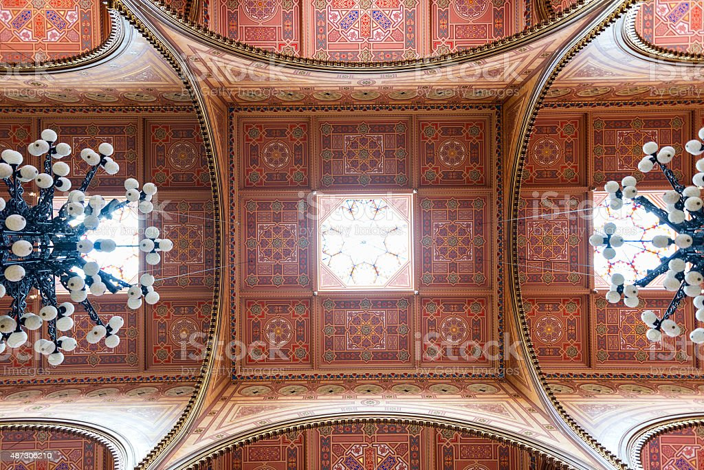 The Great Synagogue in Budapest stock photo