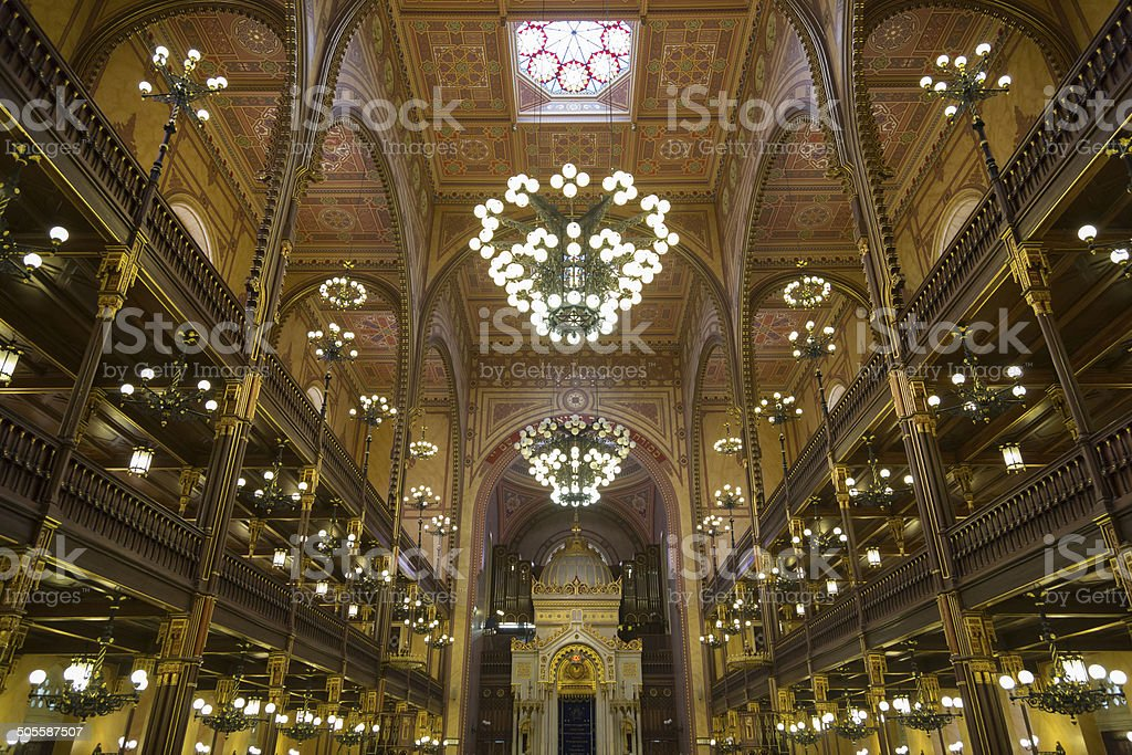The Great Synagogue in Budapest royalty-free stock photo