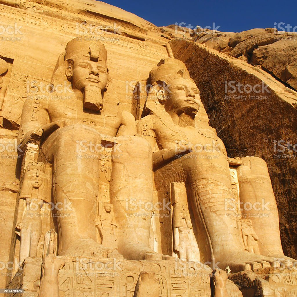 The Great Temple at Abu Simbel, Egypt stock photo