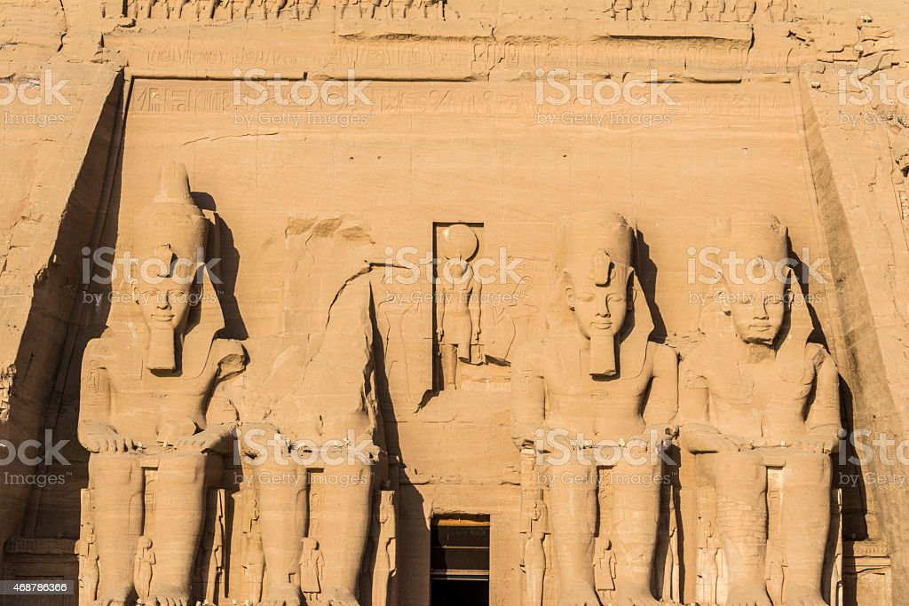 The Great Temple of Abu Simbel, Egypt stock photo