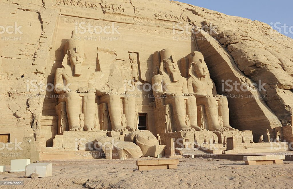 The Great Temple of Ramesses II. Abu Simbel, Egypt. stock photo