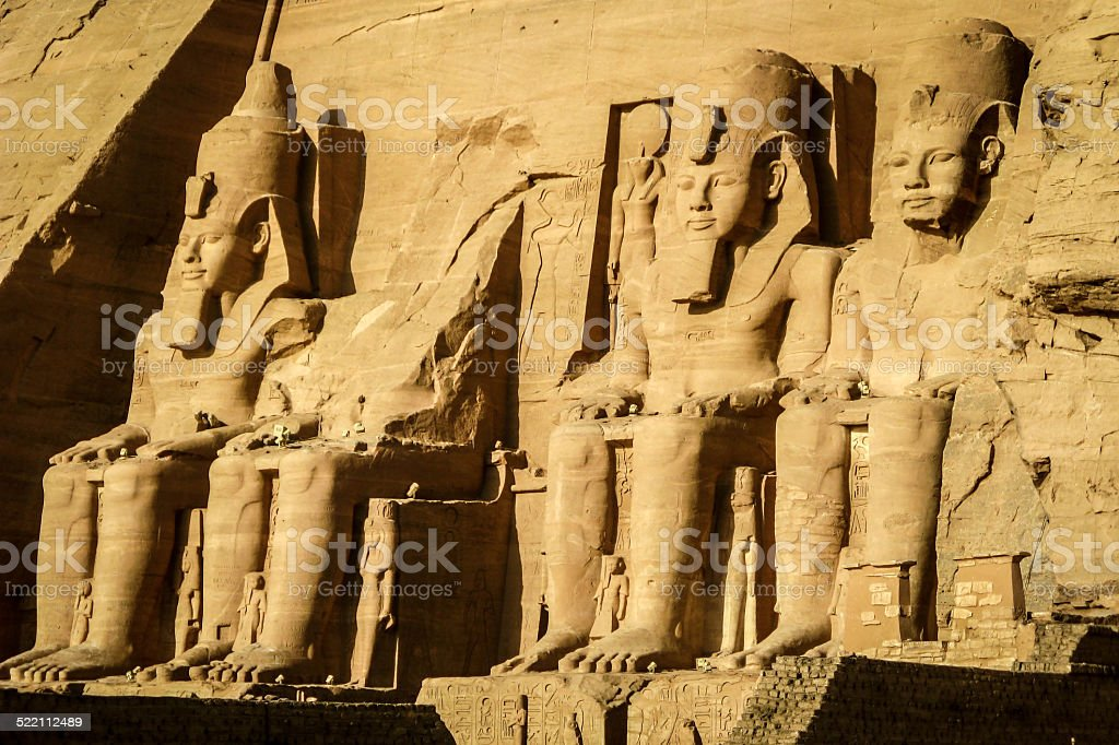 The Great Temple of Ramses II at Abu Simbel, Egypt stock photo