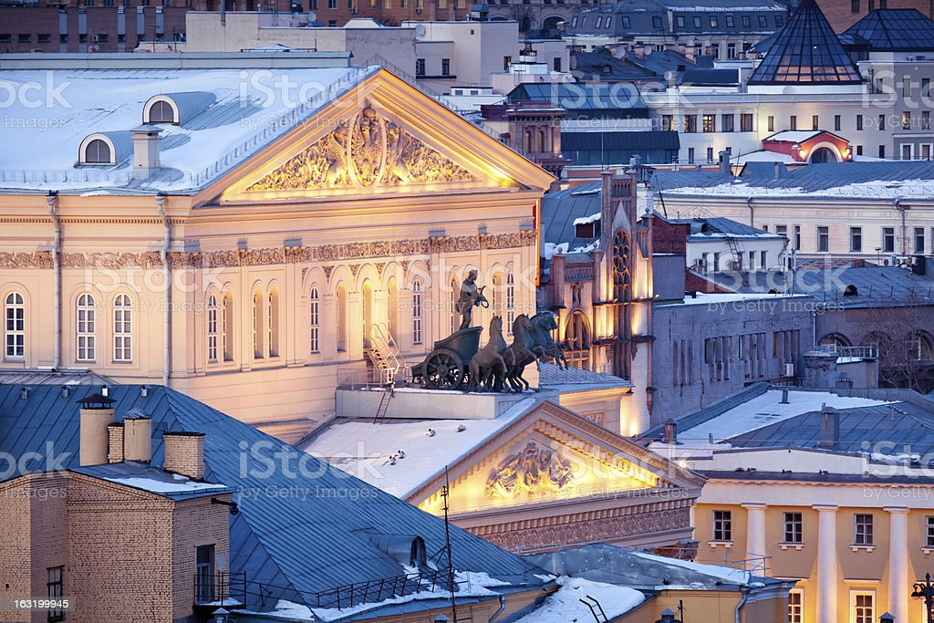 The Great Theater in Moscow, Russia stock photo