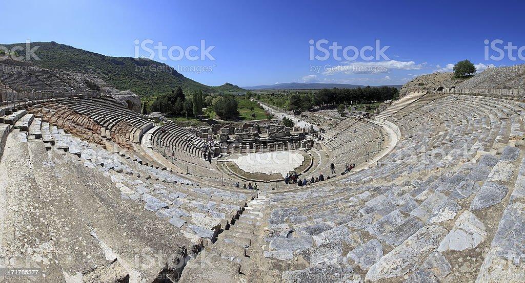 The Great Theatre of Ephesus, Selcuk, TURKEY royalty-free stock photo