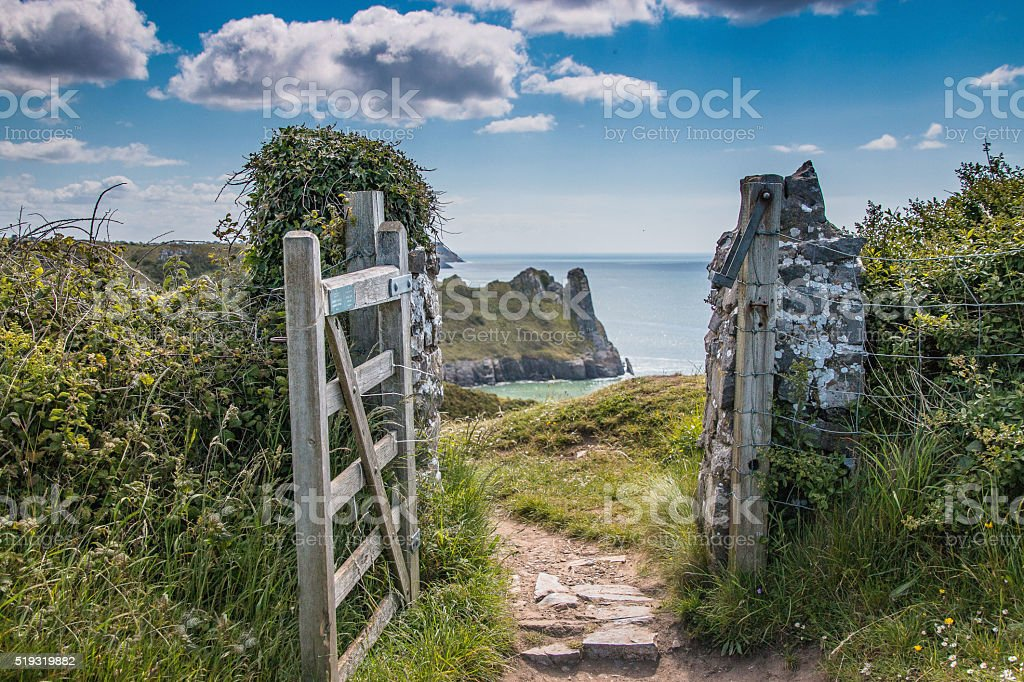 The Great Tor, Gower stock photo