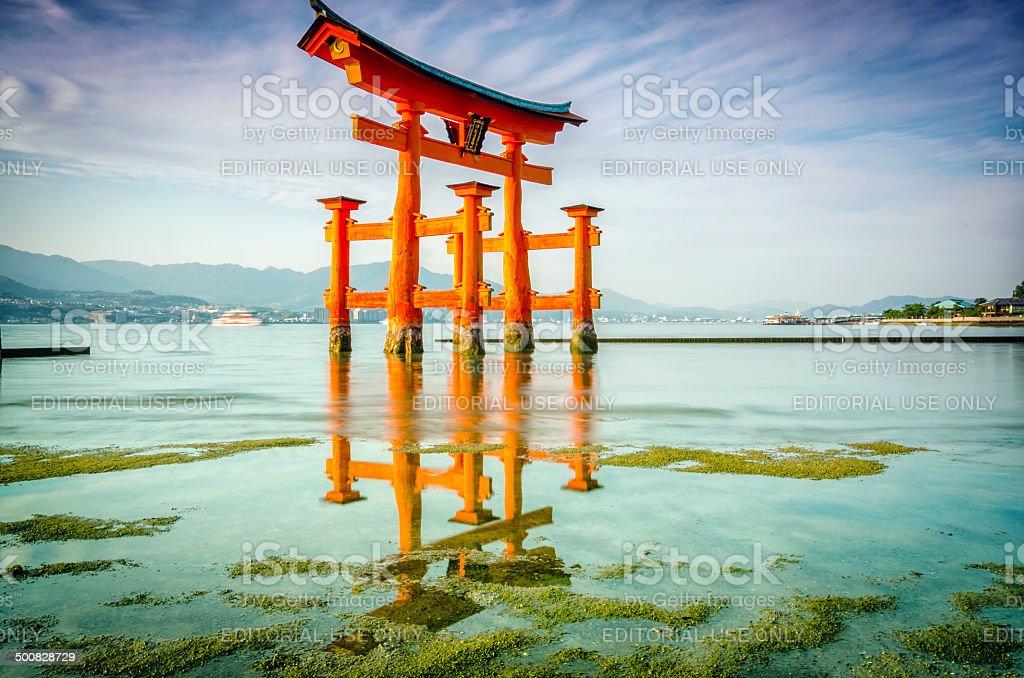 The Great Torii of Itsukushima shrine royalty-free stock photo
