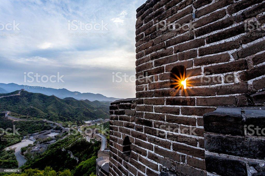 The Great Wall at Badaling stock photo