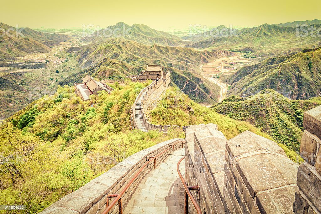 The Great Wall, Beijing, China stock photo
