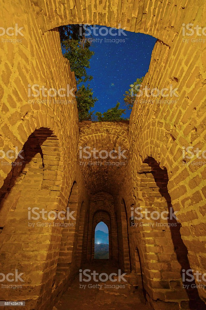 The Great Wall Castle of china stock photo