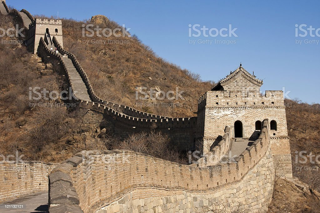 The Great Wall (Mutianyu) of Beijing,China royalty-free stock photo