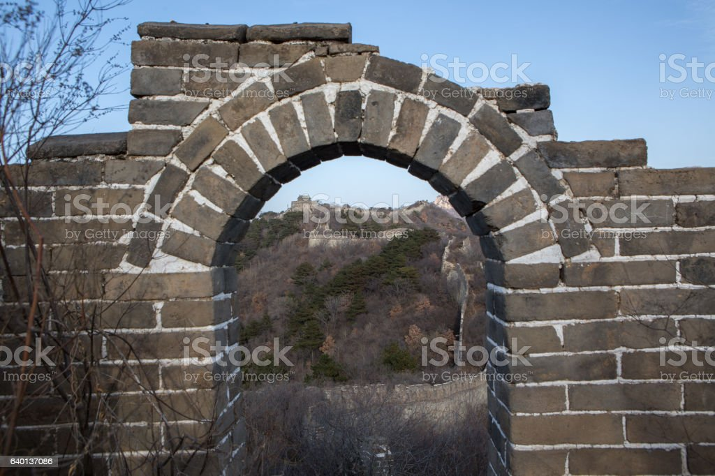 The Great Wall of China, Beijing stock photo