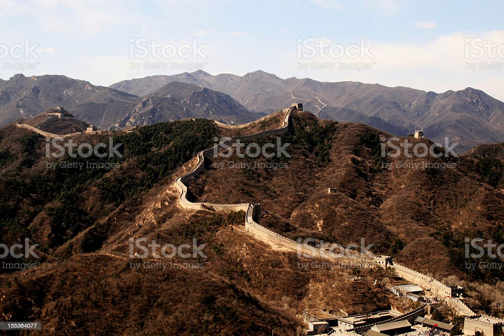 La Grande Muraglia cinese a Pechino, Badaling foto stock royalty-free