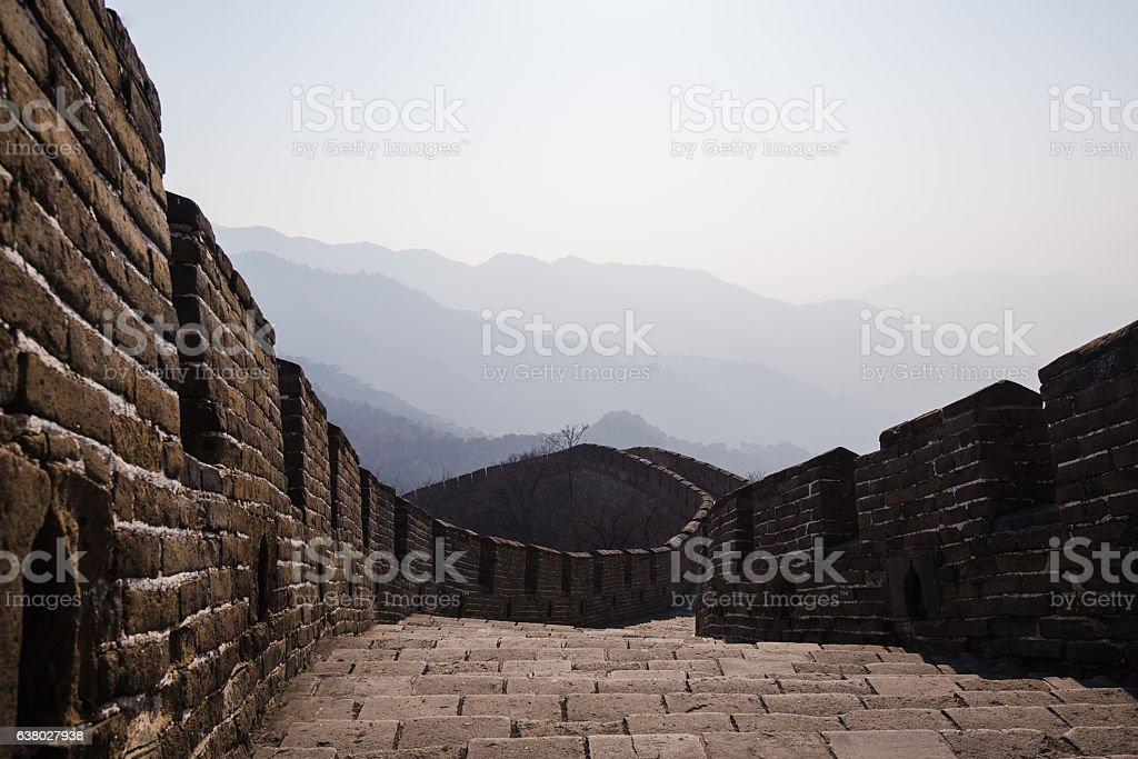 The Great Wall of China, Mutianyu section stock photo