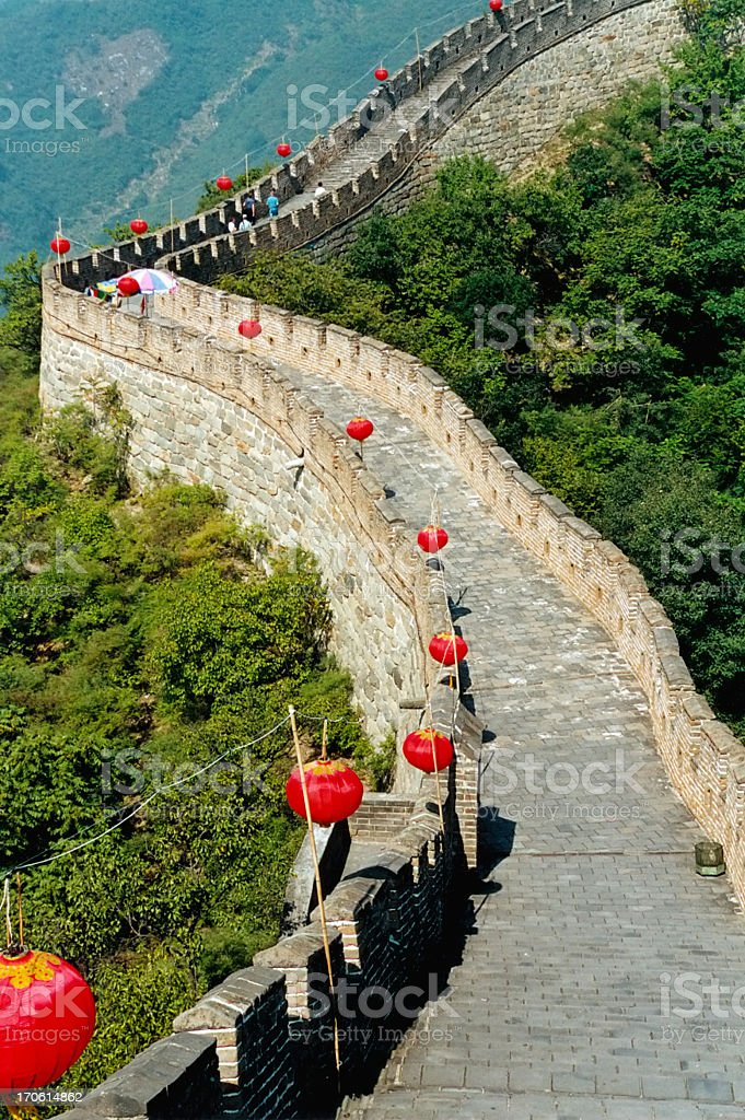 The Great Wall of China , Mutianyu section,Beijing royalty-free stock photo