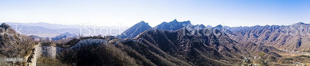 The Great wall of China Panorama stock photo