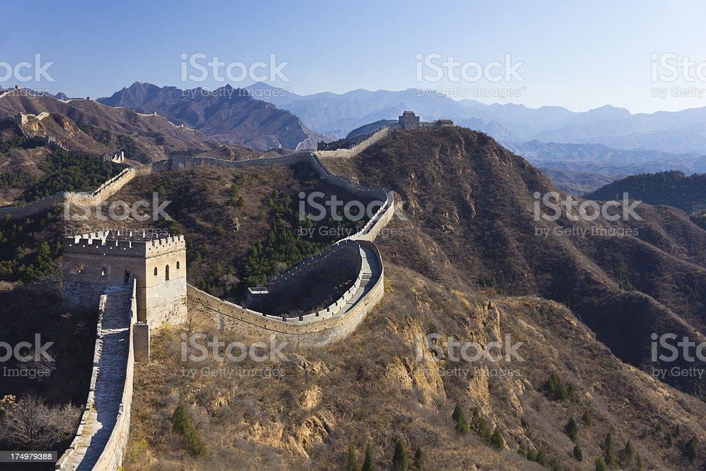 The Great Wall of China (Jinshanling) stock photo